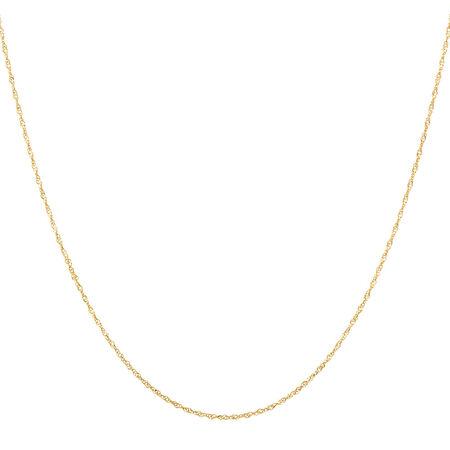 """40cm (16"""") Singapore Chain in 14kt Yellow Gold"""