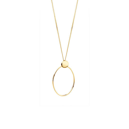 Geometric Drop Pendant in 10kt Yellow Gold