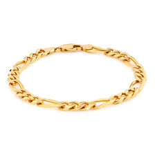 Men's Figaro Bracelet in 10kt Yellow Gold