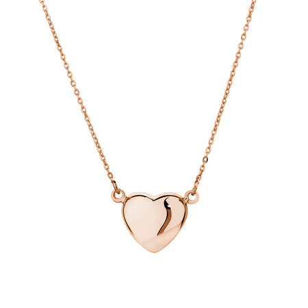 Mini Heart Necklace in 10kt Rose Gold