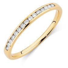 Wedding Band with 0.15 Carat TW of Diamonds in 14kt Yellow Gold