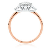 Evermore Engagement Ring with 1/2 Carat TW of Diamonds in 10kt Rose & White Gold