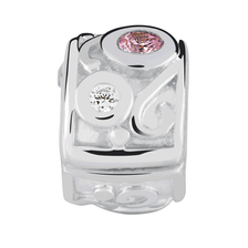 Pink & White Cubic Zirconia Stopper