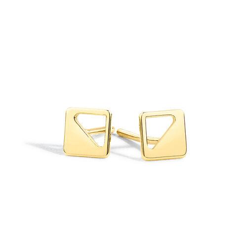 Geometric Stud Earrings in 10kt Yellow Gold