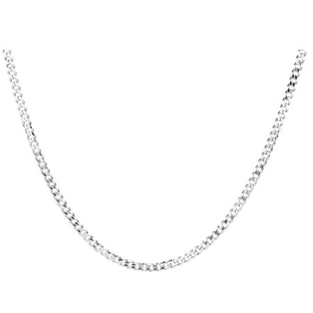 "50cm (20"") Curb Chain in Sterling Silver"