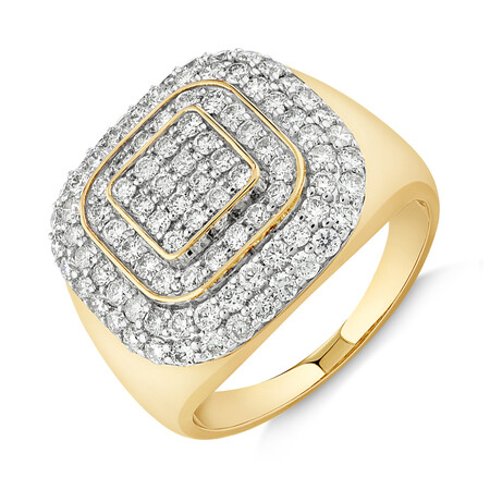 Ring with 2 Carat TW of Diamonds in 10kt Yellow  Gold