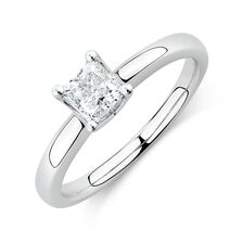 Whitefire Solitaire Engagement Ring with a 0.70 Carat TW Diamond In 18kt White & 22kt Yellow Gold