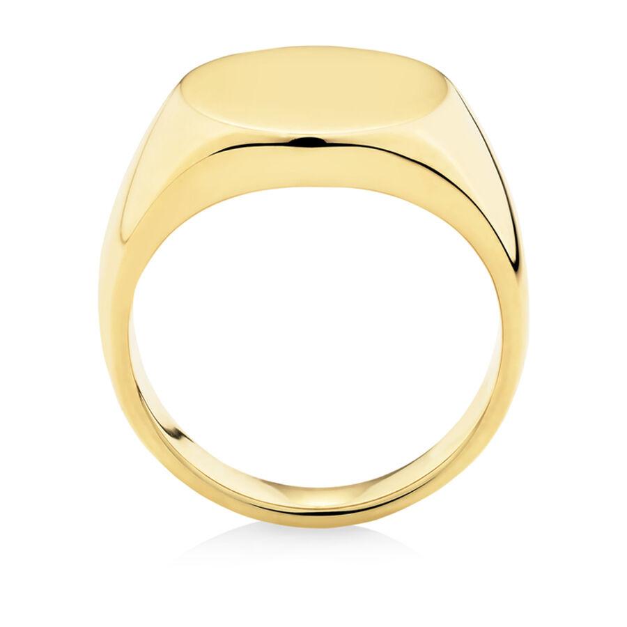 Men's Signet Ring in 10kt Yellow Gold