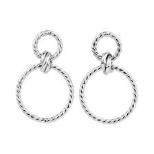 Twisted Drop Earrings in 10kt White Gold