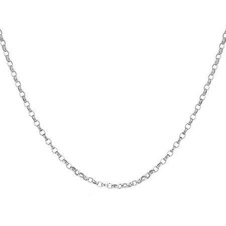 """70cm (28"""") Oval Rolo Chain in Sterling Silver"""