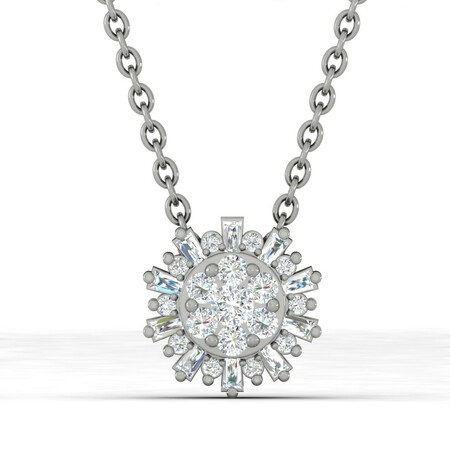 Pendant with 0.25 Carat TW of Diamonds in 10kt White Gold