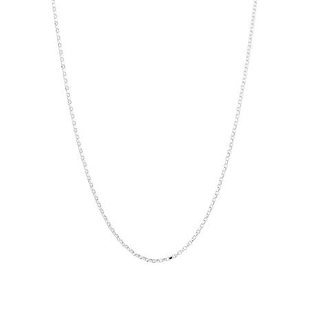 "50cm (20"") Diamond Cut Rolo Chain in 18kt White Gold"