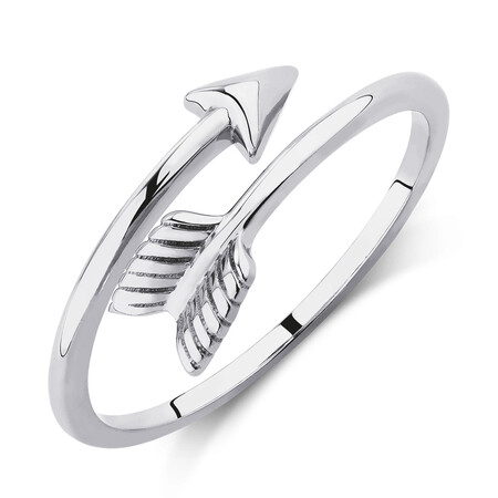 Arrow Wrap Ring in 10kt White Gold