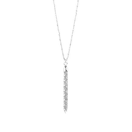Fancy Drop Necklace in Sterling Silver