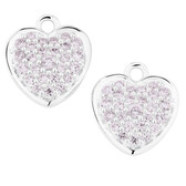 Purple Cubic Zirconia Heart Earring Drops