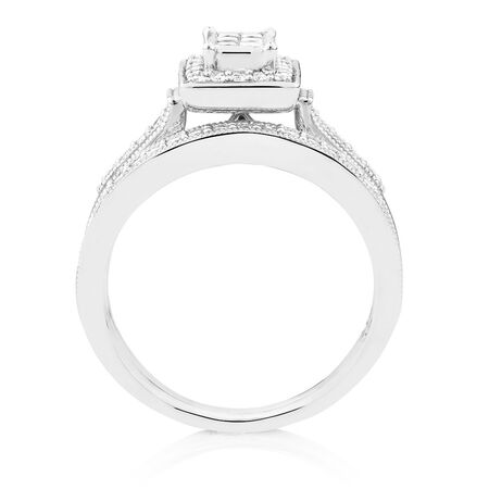 Bridal Set with 0.45 Carat TW of Diamonds in 10kt White Gold