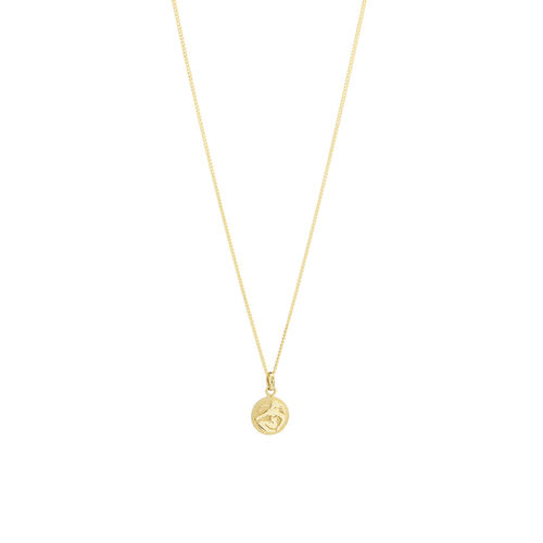 Virgo Zodiac Pendant in 10kt yellow Gold