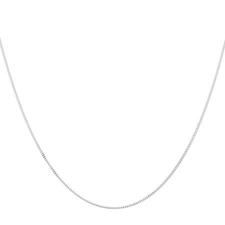 "45cm (18"") Solid Curb Chain in 10kt White Gold"