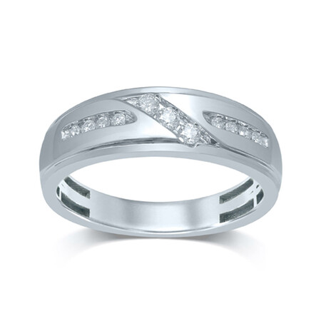 Channel Set Ring with 0.27 Carat TW of Diamonds in 10kt White Gold