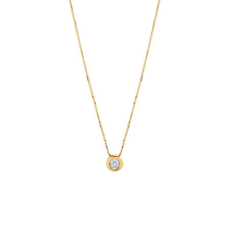 Pendant with a Diamond in 10kt Yellow Gold