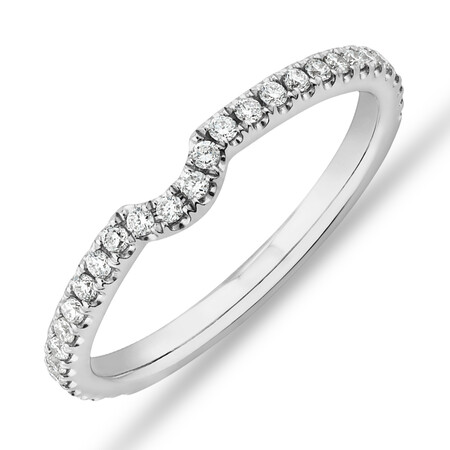 Sir Michael Hill Designer Wedding Band with 0.22 Carat TW of Diamonds in 18kt White Gold