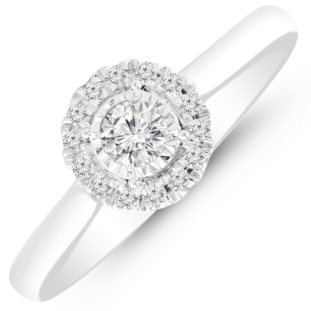 Ring with 1/4 Carat TW of Diamonds in 10kt White Gold
