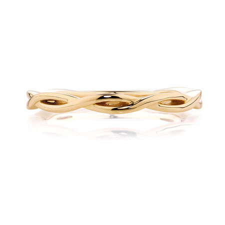 Crossover Stack Ring in 10kt Yellow Gold