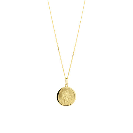 St Christopher Pendant in 10kt Yellow Gold