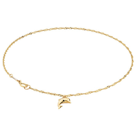 """23cm (9.5"""") Anklet in 10kt Yellow Gold"""