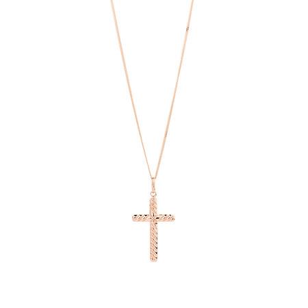 Cross Pendant in 10kt Rose Gold