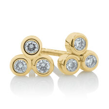 Stud Earrings with 1/7 Carat TW of Diamonds in 10kt Yellow Gold