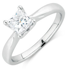 Evermore Colourless Solitaire Engagement Ring with a 1 Carat Diamond in Platinum