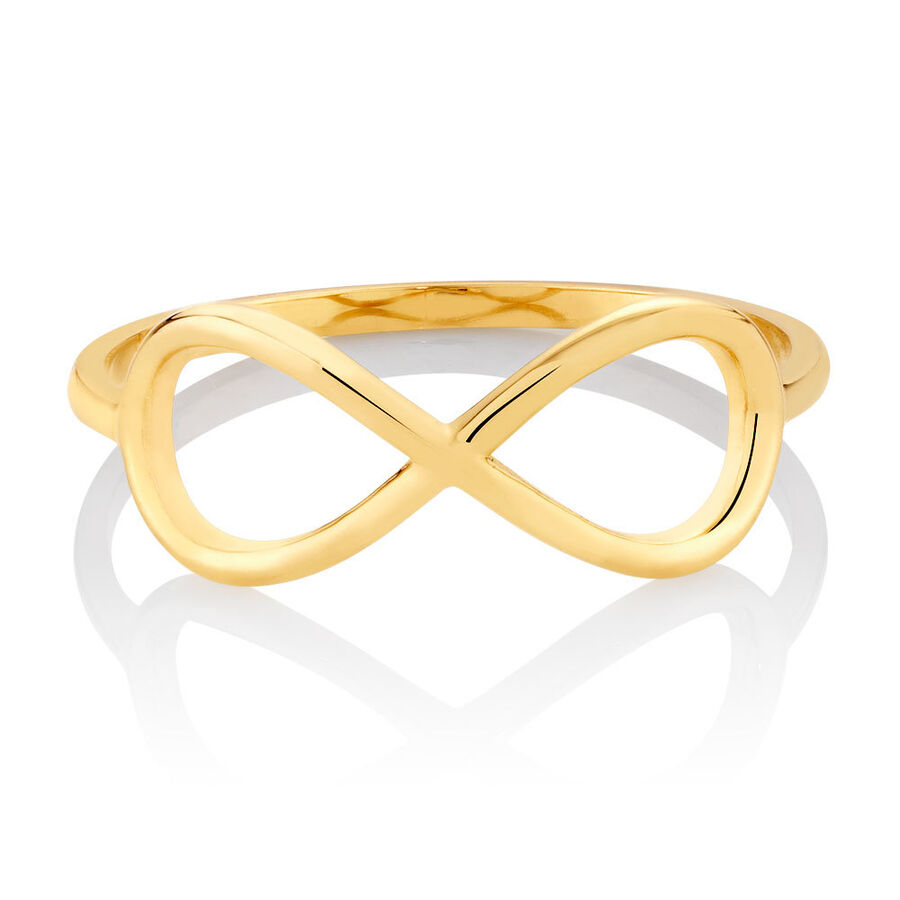 Infinity Ring in 10kt Yellow Gold