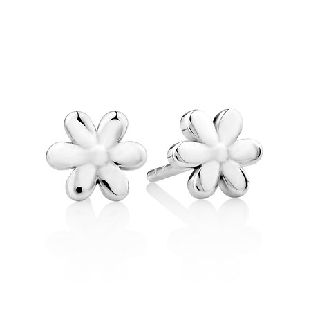 Flower Stud Earrings in Sterling Silver