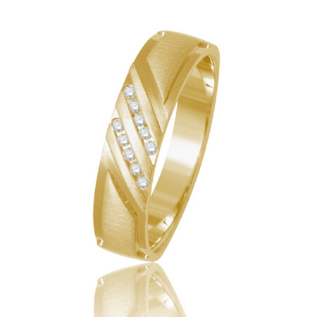 Two Row Ring in 10kt Yellow Gold