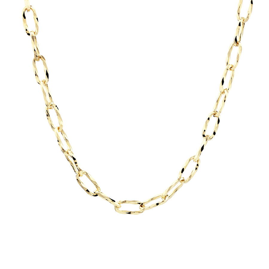 50cm Hollow Oval Link Chain in 10kt Yellow Gold