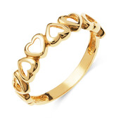 Heart Link Ring in 10kt Yellow Gold