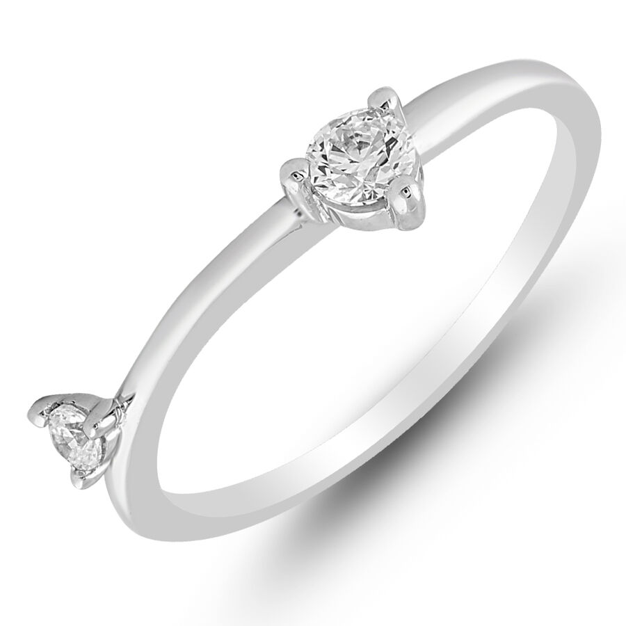 Ring with 0.25 Carat TW of Diamonds in 10kt White Gold