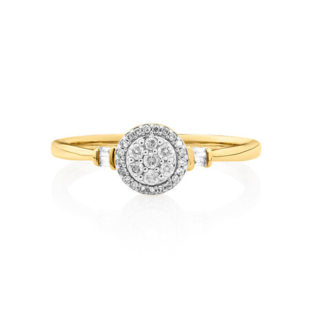 Evermore Promise Ring with 0.15 Carat TW of Diamonds in 10kt Yellow Gold