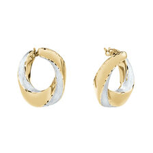 Oval Satin Earrings in 14kt Yellow Gold