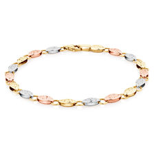 "19cm (7.5"") Fancy Bracelet in 10kt Yellow, White & Rose Gold"