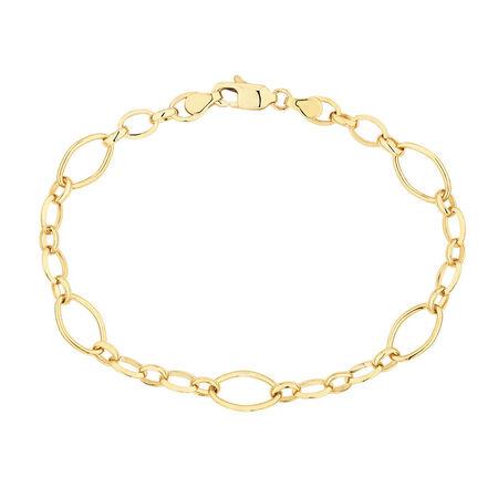 """19cm (7.5"""") Fancy Bracelet in 10kt Yellow Gold"""