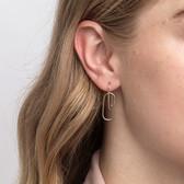 Double Oval Hoop Earrings In 10kt Yellow Gold
