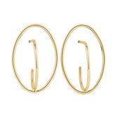 Oval Stud Earrings in 10kt Yellow Gold