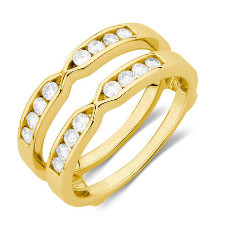 Enhancer Ring with 1/2 Carat TW of Diamonds in 14kt Yellow Gold