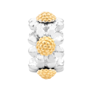 10kt Yellow Gold & Sterling Silver Flower Charm