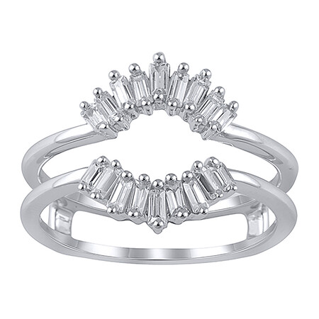 Enhancer Ring with 0.40 Carat TW of Diamonds in 10kt White Gold