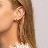 Heart Stud Earrings With Diamonds In 10kt Yellow Gold