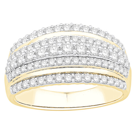 Ring with 1.00 Carat TW of Diamonds in 14kt Yellow Gold