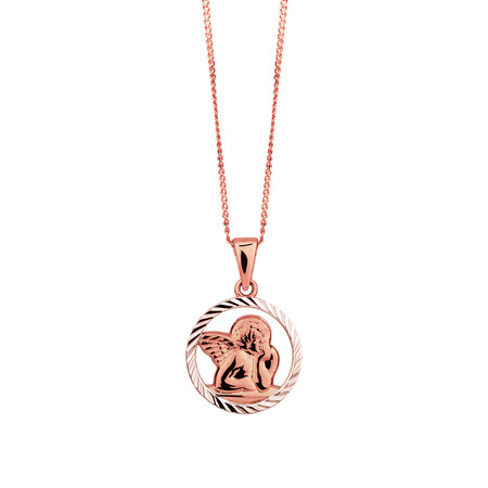 Cherub Pendant in 10kt Rose Gold
